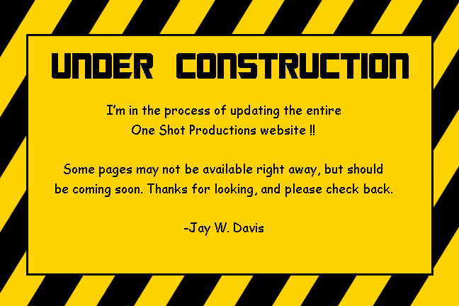 Under Construction. More pages coming soon.